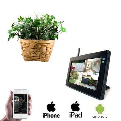 1x Wireless Plant Camera LCD DVR