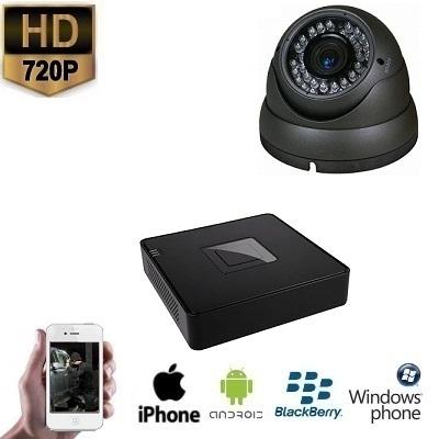 1x HD IP Dome Camera Grijs Set