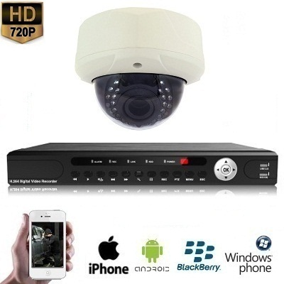 1x Dome Camera Set 720P HD