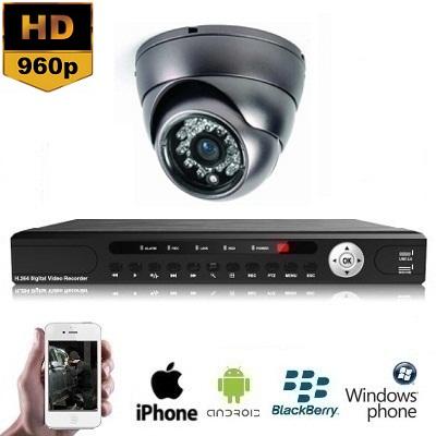 1x Mini Dome Camera Set 960P HD