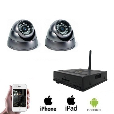 2x Draadloze Dome Camera DVR