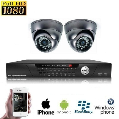2x Mini Dome Camera Set HD SDI