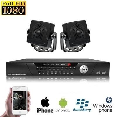 2x Mini Spy Camera Set HD SDI