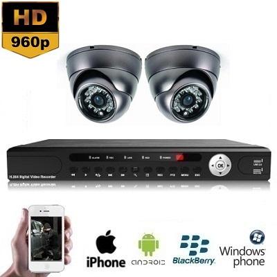 2x Mini Dome Camera Set 960P HD
