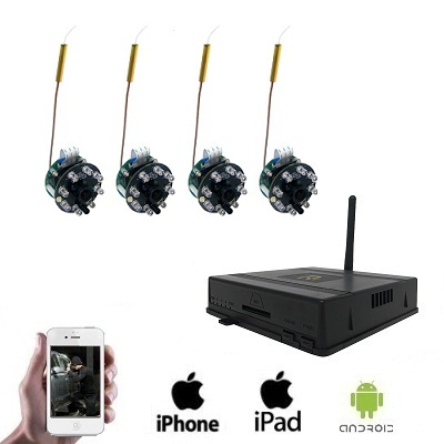 4x Draadloze Spy Camera DVR