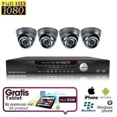 4x Mini Dome Camera Set FULL HD SDI + TABLET