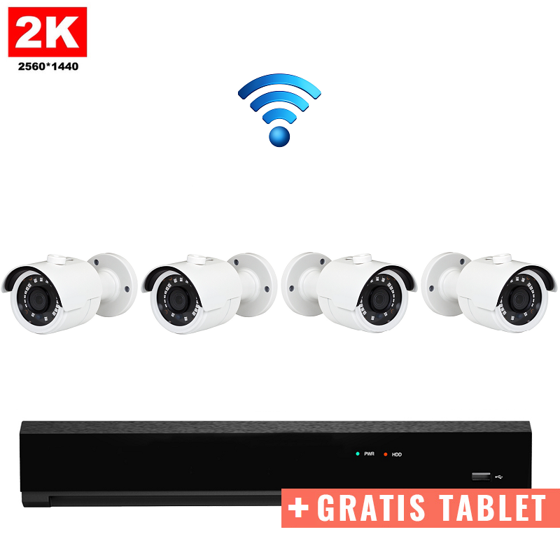 "4x Mini IR IP Camera 2K POE Draadloos + GRATIS TABLET <span class=""smallText"">[41392]</span>"