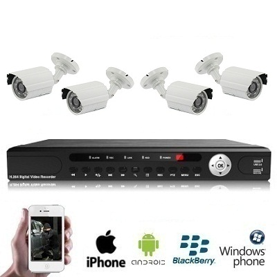 4x IR Camera Set PREMIUM 1080P FULL HD