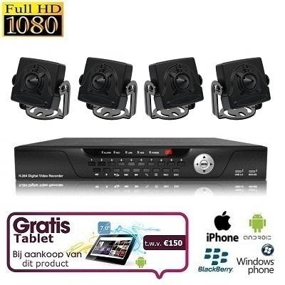 4x Mini Spy Camera Set HD SDI + TABLET