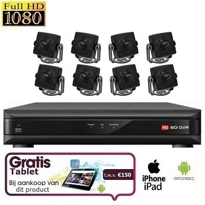 8x Mini Spy Camera Set HD SDI + TABLET