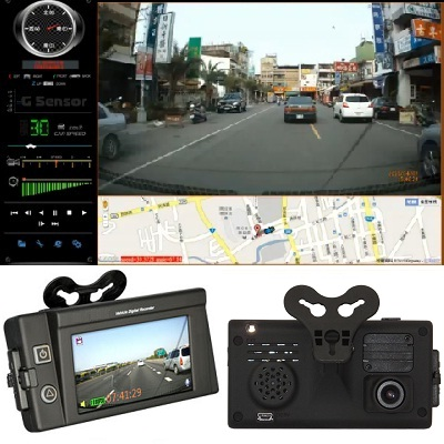 HD 1080P Auto Camera DVR LCD GPS