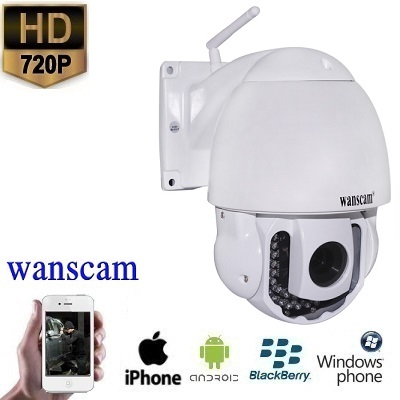 WIFI PTZ Dome IP Camera HD 3x Zoom