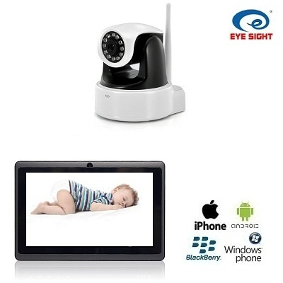 IP Camera met WIFI Babyfoon HD + 7 Inch Tablet