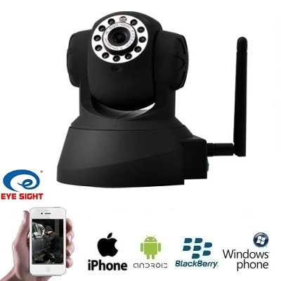 Dagaanbieding - IP Camera WIFI PAN Tilt Zwart Babyfoon dagelijkse koopjes