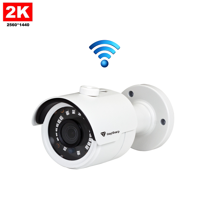 IP Camera Mini IR Bullet 4MP 2K Draadloos