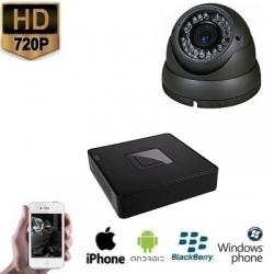 1x HD IP Dome Camera Grijs Set