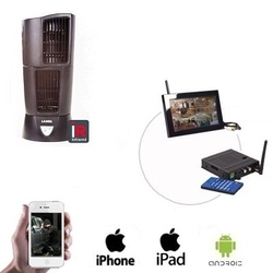 Wireless Oscillating Fan Camera LCD / DVR