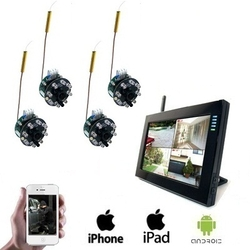 4x Draadloze Spy Camera LCD DVR