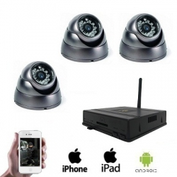 3x Wireless Dome Camera DVR