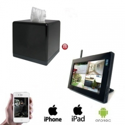 1x Wireless Tissuebox Camera LCD DVR