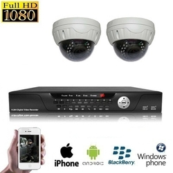 2x Dome Camera Set HD SDI