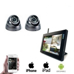 2x Wireless Dome Camera LCD DVR