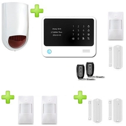 Wireless GSM + WIFI Alarmsystemen WITH APP Premium