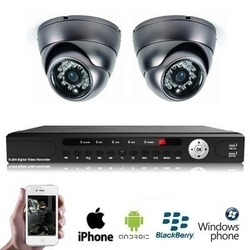 2x Wireless PREMIUM Mini Dome Camera Kit