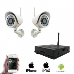 2x Wireless IR Camera DVR