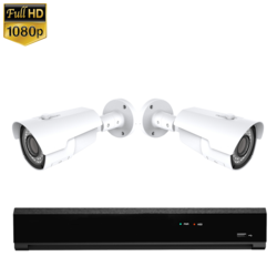 2x IR IP Camera 1080P POE Bekabeld