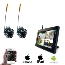 2x Wireless Spy Camera LCD DVR
