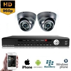 2x Mini Dome Camera Set 960P HD